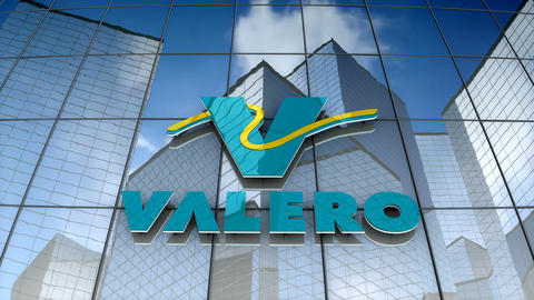 Editorial, Valero Energy Corporation logo on glass building Animation