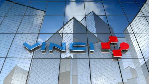 Editorial, Vinci SA logo on glass building Animation
