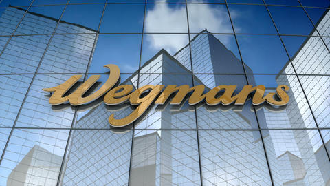 Editorial, Wegmans Food Market, Inc. logo on glass building Animation