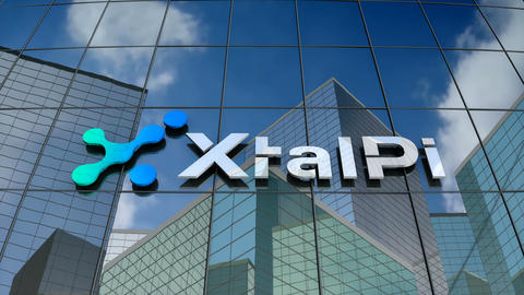 Editorial, XtalPi logo on glass building Animation