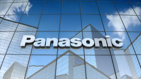 Editorial, Panasonic Corporation logo on glass building Animation
