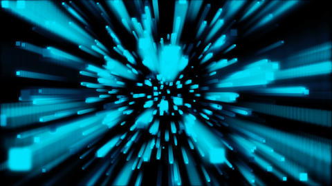 Blue color geometric shape Motion abstract background Animación