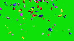 Multi Color Falling Hearts Video Background-Blue GIF