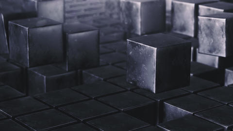 Loop Grunge cube animation field Animation