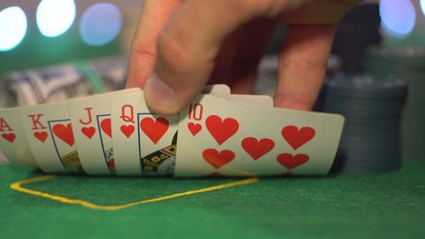 Royal Flush, Hearts, Poker Cards Live Action