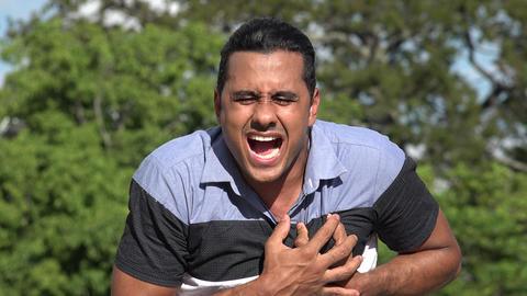 C0266 adult hispanic man heart attack Live Action