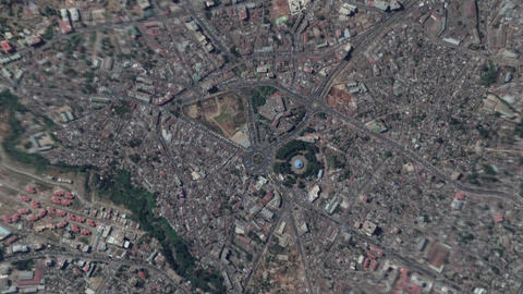 Earth Zoom In Zoom Out Addis Ababa Ethiopia 영상물