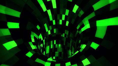 3D Green Sci-Fi Arificial Intelligence Tunnel - VJ Loop Motion Background Animación