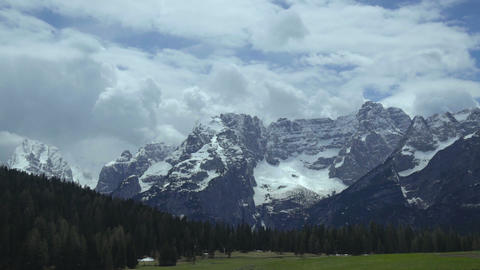Fascinating panorama of majestic Alps, beautiful tourist attraction in Italy Live Action
