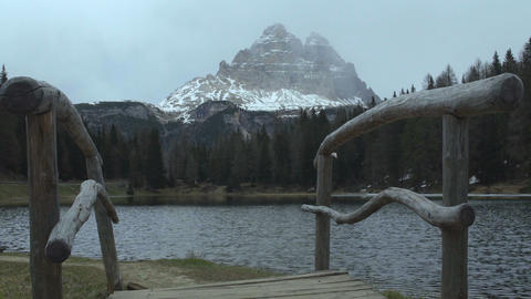 Tranquil view of clear mountain lake in Alps, beautiful wild nature, recreation Live Action