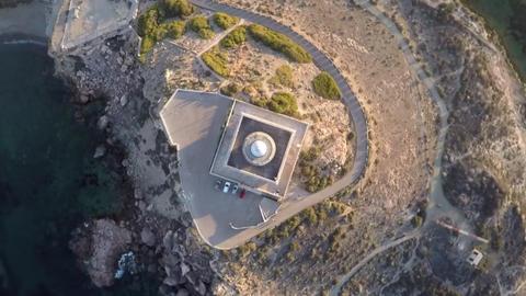 Cabo de palos lighthouse spain Footage