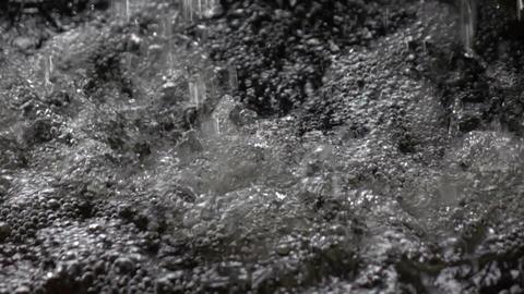Heavy rain drops, slow motion Footage