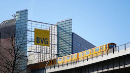 Administration Building of BVG With BVG Logo And Train Footage