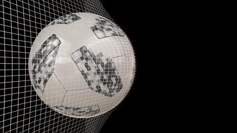 Fifa world cup ball in net Animation