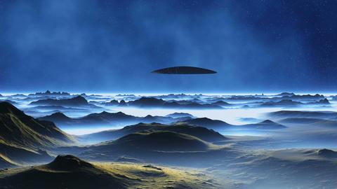 Spaceship on Alien Planet GIF