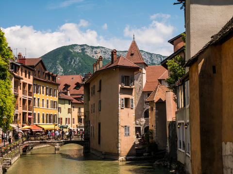 medieval house on the canal in Annecy, France Photo