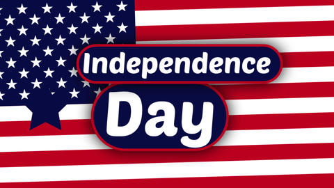animation for American Independence Day, flat colors Live Action