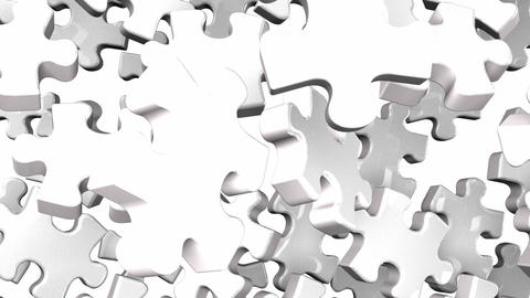 White Jigsaw Puzzle On White Background CG動画