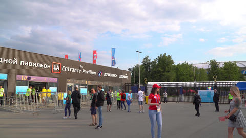 17 June 2018. Russia. Moscow. Day. Entrance to the Luzhniki stadium during the Archivo