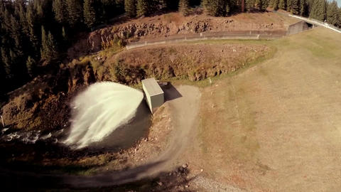Water power dam hydroelectric Stock Video Footage