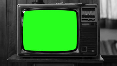 1980S Television Green Screen. Black And White. Zoom Out Live Action