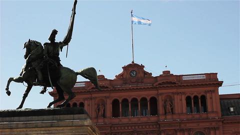 San Martin Monument In The Casa Rosada, Buenos Aires, Argentina GIF