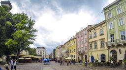Market Square - the central square of Lviv city, Ukraine Footage