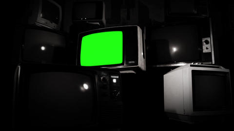 GREEN SCREEN TV BLACK AND WHITE TONE COLLECTION 2