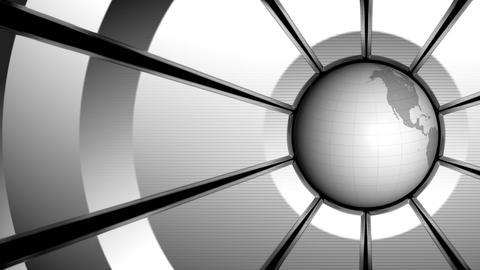 Gray Globe Animation Animation