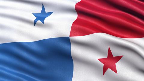4K Panama flag seamless loop Animation