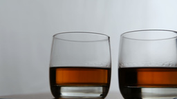 Glasses of whiskey Footage