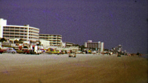 1967: Hotels on spring beach party beach vacation begins Footage