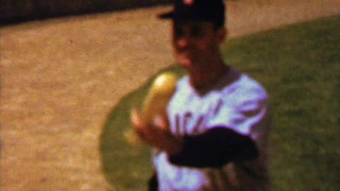 1961: Billy Pierce Early Wynn Chicago White Sox baseball player warming up Footage