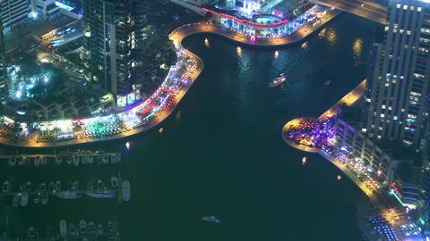 night light tourist gulf 4k time lapse from dubai Footage