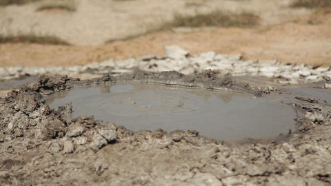 Bubbling Mud Volcano Live Action
