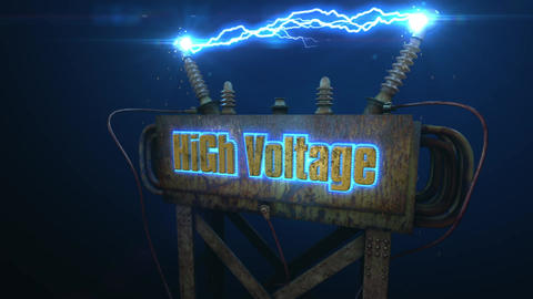 HiGh Voltage - Electric Bolts and Rusty Transformer Intro After Effects Template