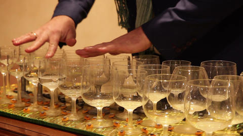 Classical Wine Glass Music Footage