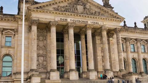 Berlin Timelapse - Reichstag Building Hyperlapse stock footage