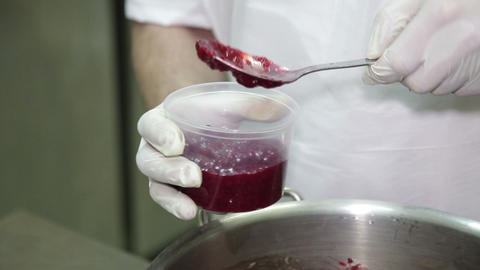 Preservation Of Berry Jam stock footage