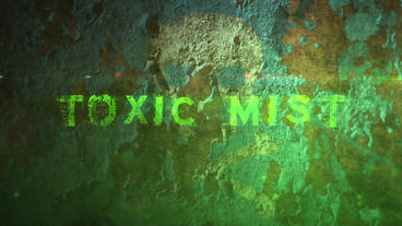 Toxic Mist - Peeling Paint Toxic Fog Logo Opener stock footage