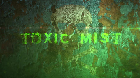 Toxic Mist - Peeling Paint Toxic Fog Logo Opener After Effects Template