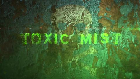 Toxic Mist - Peeling Paint Toxic Fog Logo Opener Plantilla de After Effects