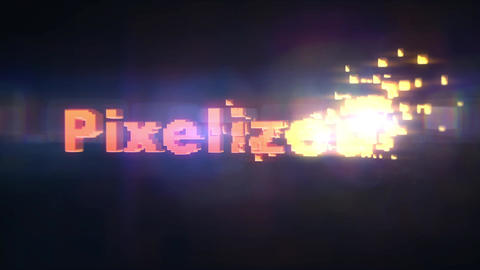 Pixelized - Pixel Materialization Logo Stinger After Effects Template
