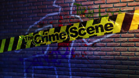The Crime Scene - Crime Scene Tape Logo Stinger After Effects Template