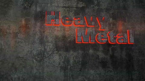 Heavy Metal - Bullet Proof Metal Text Logo Stinger After Effects Template