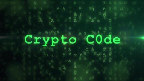 CryptoCode - Cryptographer Code Logo Stinger Plantilla de After Effects