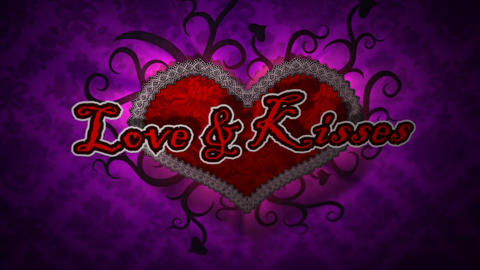 Love & Kisses - Valentine's Day Logo Stinger After Effects Template