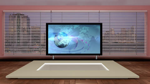 News TV Studio Set 149 - Virtual Background Loop Live Action
