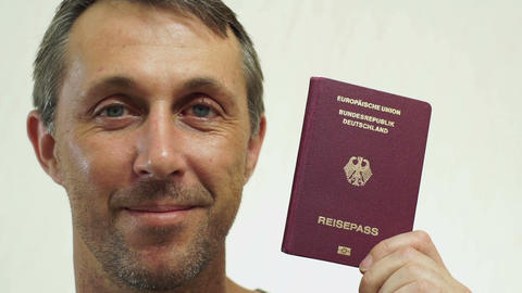 Male Germany Passport Portrait Closeup Footage