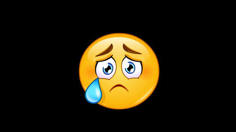 Crying face emoticon animation Animation
